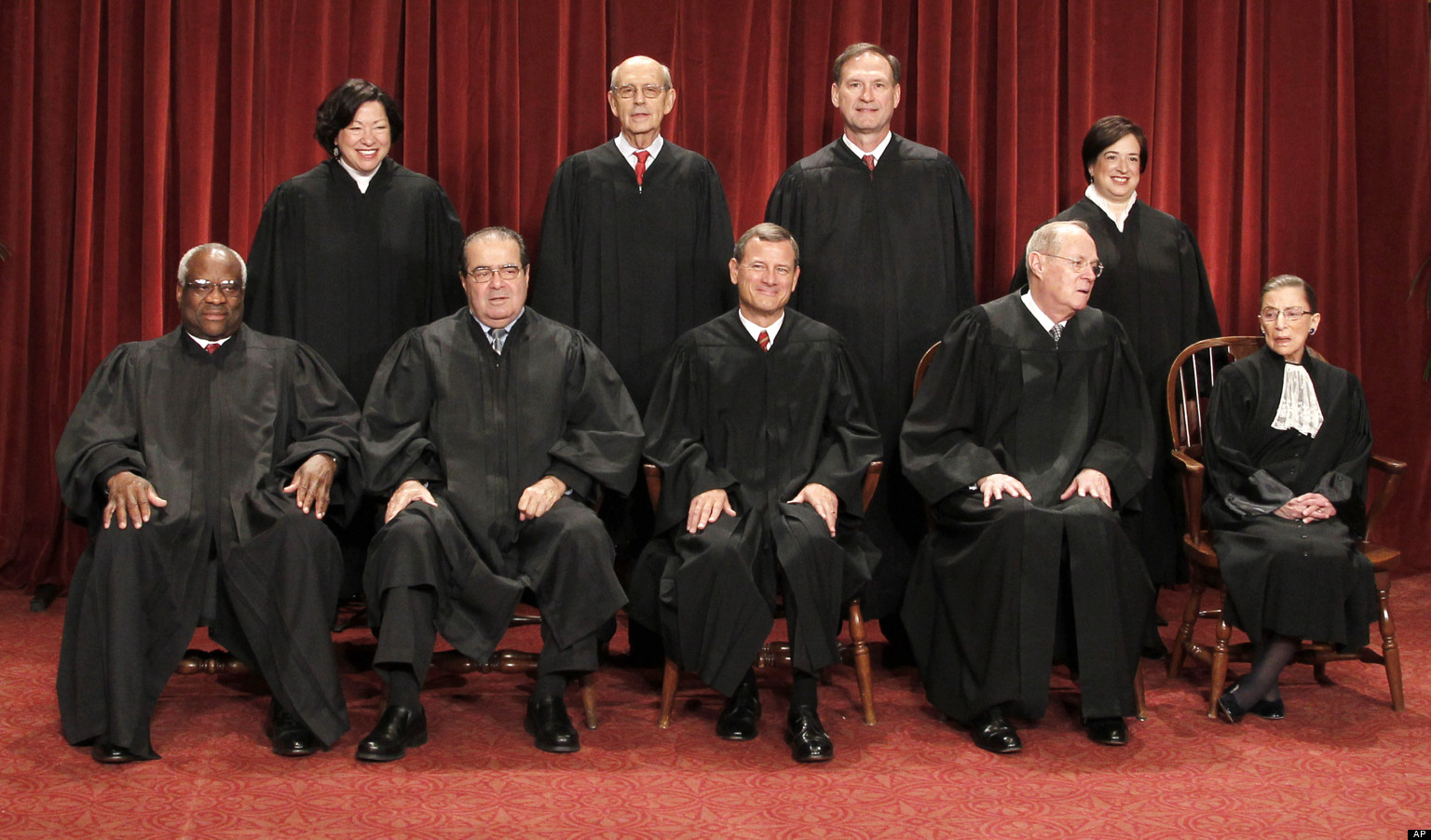 Clarence Thomas, Antonin Scalia, John G. Roberts, Anthony M ...